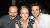 Cabaret's Danny Burstein and If/Then star and Broadway.com video blogger James Snyder flank Tony nominee Kathleen Chalfant.