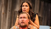 Michael Chernus as Sam & America Ferrera as Sally in Lips Together, Teeth Apart