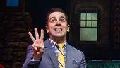 Rob McClure as Jack Singer and the Company of Honeymoon in Vegas