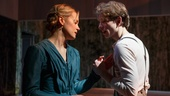 Taylor Schilling as Natalya & Mike Faist as Belyaev in A Month in the Country