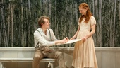 Mike Faist as Belyaev & Megan West as Vera in A Month in the Country