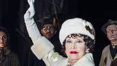 Chita Rivera as Claire Zachanassian and the cast of The Visit Photo by Thom Kaine.