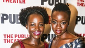 Eclipsed - Opening - 10/15 - Lupita Nyong'o and playwright Danai Gurira