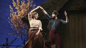 Samantha Massell as Hodel and Ben Rappaport as Perchik in Fiddler on the Roof.