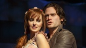 Ahna O'Reilly as Rosamund & Steven Pasquale as Jamie Lockhart in The Robber Bridegroom