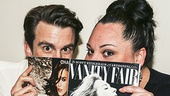 Peek-a-boo! Caught Gavin Creel and Waitress' Keala Settle reading the Holy Book of Meryl (a.k.a. the latest issue of Vanity Fair).
