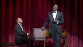 Brandon Victor Dixon as Eubie Blake and Joshua Henry as Noble Sissle in Shuffle Along.