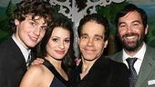 Photo Op - Spring Awakening Broadway opening - Jonathan Groff - Lea Michele - Steven Sater - Duncan Sheik