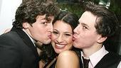 Photo Op - Spring Awakening Broadway opening - Jonathan Groff - Lea Michele - John Gallagher Jr. (kissing)