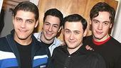 Photo Op - Jersey Boys in SF - Deven May - Christopher Kale Jones - Michael Ingersoll - Erich Bergen