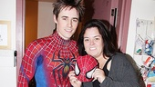 Rosie O'Donnell Visits Spider-Man, Turn off the Dark – Reeve Carney – Rosie O'Donnell
