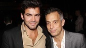 It's an opening night party reunion for Joe Mantello and his Pal Joey leading man Matthew Risch.