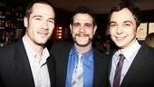 The Normal Heart actors Luke Macfarlane and Jim Parsons flank Drama Critics' Circle President Adam Feldman.