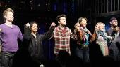 Opening night of <i>Rent</i> - Matt Shingledecker – Arianda Fernandez – Adam Chanler-Berat – Corbin Reid – Annaleigh Ashford – Nicholas Collins