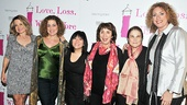 Former cast members Alison Fraser,  Mary Testa, Ann Harada, Maria Tucci, Tovah Feldshuh and Judy Gold are on hand to support Love, Loss and What I Wore.