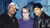 Matthew Broderick shares a post-show snapshot with Memphis men James Monroe Iglehart and Derrick Baskin.