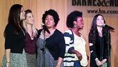 Ladies Night! Godspell gals Lindsay Mendez, Morgan James, Celisse Henderson, Uzo  Aduba and Anna Maria Perez de Tagle spread the gospel to the crowd.