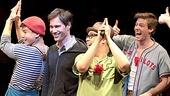 Eric McCormack Joins Godspell Onstage – Eric McCormack – Telly Leung- Hunter Parrish – George Salazar – Nick Blaemire