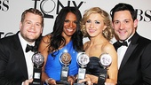 James Corden, Audra McDonald, Nina Arianda and Steve Kazee won the night's leading acting awards.