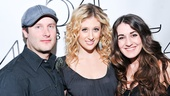 The star gets between her rockin' drummer Mike Croiter and super-talented backup singer Hannah Shankman.