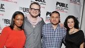Public Theater Openings — Quincy Tyler Bernstine — Luke Robertson — Guillermo Calderon — Bianca Amato