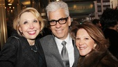 Funny lady Julie Halston spends some quality time with Linda Lavin and her husband Steve Bakunas.
