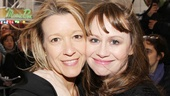 Acclaimed stage actresses (and pals) Linda Emond and Sally Murphy pose cheek to cheek.