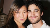 Glee's two Broadway babes come together for a backstage snapshot. Jenna Ushkowitz appeared in Spring Awakening and The King and I and Darren Criss starred in How to Succeed.