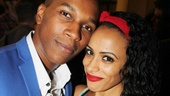 Leslie Odom Jr. shares a sweet opening night moment with his biggest fan: his wife, Nicolette Robinson.