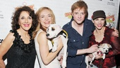 Pippin's Andrea Martin, Rachel Bay Jones, Matthew James Thomas and Charlotte d'Amboise have hearts to warm—they're just happy to belong to a pair of adorable dogs.