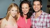 Anna Kendrick and Jeremy Jordan share the love with vocal coach Georgia Stitt (who is married to L5Y composer Jason Robert Brown).