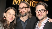Shrek DVD director Michael Warren celebrates with Sutton Foster and Christopher Sieber.