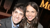Adam Riegler hangs out with Sutton Foster at The Hudson Bond in NYC.