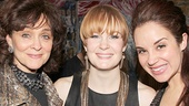 Broadway alum Alexandra Silber (r.) and her mom Catherine (l.) flank Kate Baldwin.
