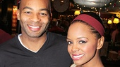 Motown star Brandon Victor Dixon and Big Fish's Krystal Joy Brown raise a toast to Kate Baldwin!