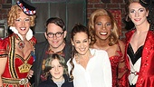 The Kinky Boots angels strike a pose with Matthew Broderick, Sarah Jessica Parker and James Wilkie.