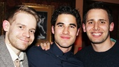 Darren Criss hangs out with buds Andrew Keenan-Bolger and Benj Pasek.