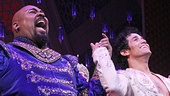 Bravo! Aladdin stars James Monroe Iglehart, Adam Jacobs, Courtney Reed and Jonathan Freeman take their first official bows.