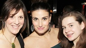 Idina Menzel takes a picture perfect snapshot with her assistant and dresser Joby Horrigan and her daughter Burkett.
