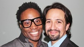 Two men, two Tony Awards! Kinky Boots star Billy Porter & In the Heights scribe Lin-Manuel Miranda.