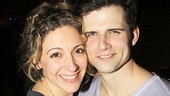 Massey is thrilled his former Wicked co-star Donna Vivino came to see his Pippin debut.