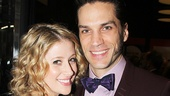 Les Miserables stars Caissie Levy and Will Swenson are on hand to cheer on Swenson's wife, Audra McDonald.