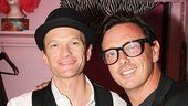 Neil Patrick Harris hangs out in his dressing room with actor and director Donovan Leitch, who played Hedwig in the off-Broadway production.