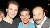 Bill Heck (Clifford Bradshaw), Aaron Krohn (Ernst Ludwig) and Danny Burstein of Cabaret.
