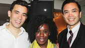 Here Lies Love - Backstage - OP - 7/14 - Uzo Aduba - Conrad Ricamora - Jose Llana