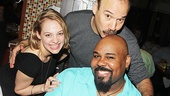 Wicked star Jenni Barber, Cabaret's Danny Burstein and Aladdin Tony winner James Monroe Iglehart take a sweet snapshot.