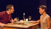 Hugh Jackman as The Man & Cush Jumbo as The Woman in  The River