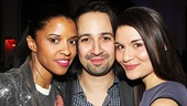 Hamilton – opening night – 2/15 – Renee Elise Goldsberry – Lin-Manuel Miranda – Phillipa Soo