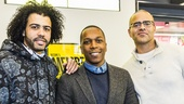 Hamilton - Broadway annoucement - 2/15 - Daveed Diggs - Leslie Odom, Jr. - Christopher Jackson