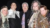 Something Rotten - backstage - 4/15 - Gerry Vichi - Brooks Ashmanskas - Harvey Fierstein - Brad Oscar - Peter Bartlett